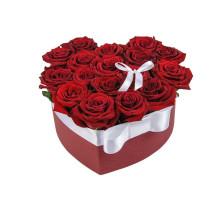 15 heart-shaped roses