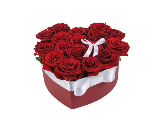 15 heart-shaped roses