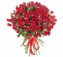19 red spray roses