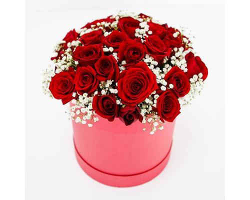25 роз в снегу