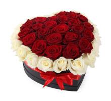 45 heart shaped roses