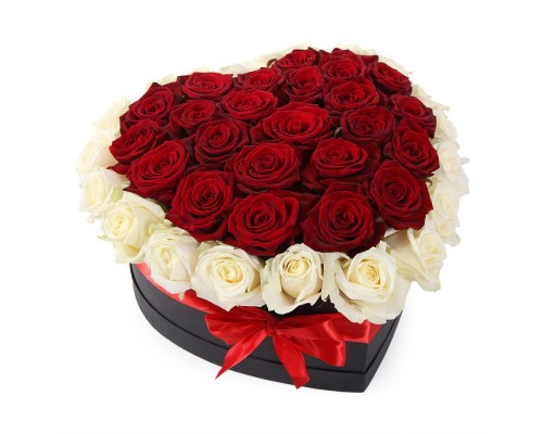 45 heart shaped roses